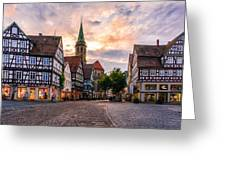 Evening In Schorndorf Greeting Card by Dmytro Korol