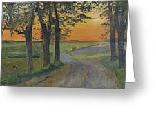 Evening In The Plain Greeting Card
