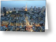 evening in Tokyo Greeting Card