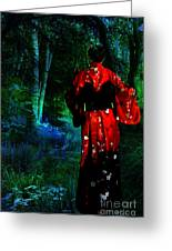 Evening Kimono  Greeting Card