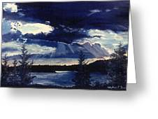 Evening Lake Greeting Card