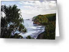 Evening Light Along The North Shore Of Kohala On The Big Island Of Hawaii. Greeting Card