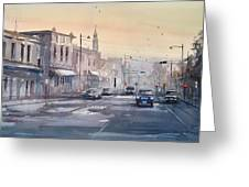 Evening Light In Appleton Greeting Card