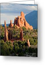Evening Light On Garden Of The Gods Greeting Card