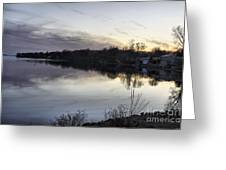 Evening Light On Lake Champlain Greeting Card