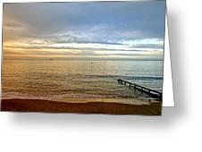 Evening Light On Shanklin Beach Greeting Card
