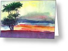Evening Lights Greeting Card