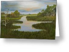 Evening Marsh Greeting Card by Shirley Lawing