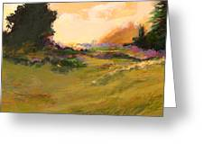 Evening Meadow Greeting Card