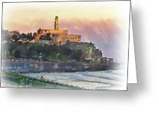 Evening Mood In Jaffa Greeting Card