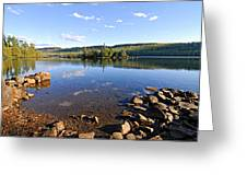 Evening On Cedar Lagoon Pine Lake Greeting Card