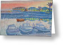 Evening On Cyprus. Greeting Card
