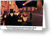 Evening On Karl Johan Street 1892 Greeting Card