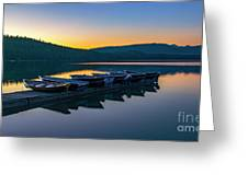 Evening On Lake Mcdonald Greeting Card