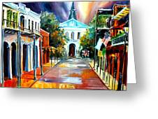 Evening On Orleans Street Greeting Card
