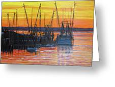 Evening On Shem Creek Greeting Card