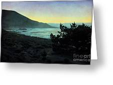 Evening On The California Coast Greeting Card
