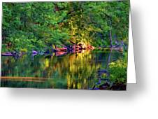 Evening On The Humber River - Paint Greeting Card