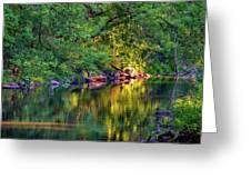 Evening On The Humber River Greeting Card