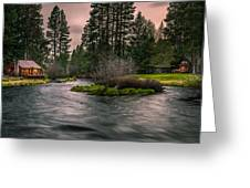 Evening On The Metolius Greeting Card