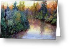 Evening On The Willamette Greeting Card