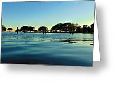 Evening On Water Greeting Card