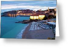 Evening Over Dubrovnik Greeting Card