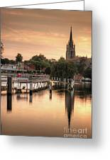 Evening Over Marlow Greeting Card