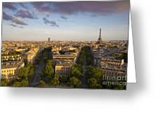 Evening Over Paris Greeting Card