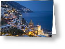 Evening Over Positano Greeting Card