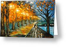 Evening Rain Greeting Card