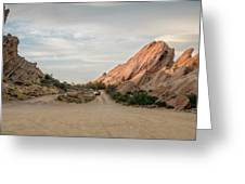Evening Rocks By Mike-hope Greeting Card