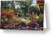 Evening Roses Greeting Card by David Lloyd Glover