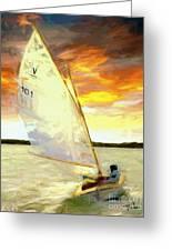 Evening Sail  Greeting Card