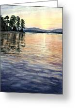 Evening Shades Greeting Card by Lane Owen