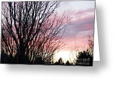 Evening Sky - October 27 Greeting Card