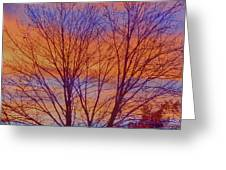Evening Sky Greeting Card