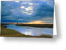 Evening Sky Over Hatches Harbor, Provincetown Greeting Card