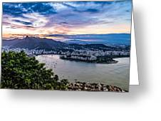 Evening Sky Over Rio De Janeiro Greeting Card