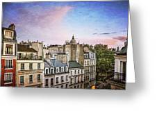 Evening Skyline Greeting Card