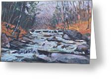 Evening Spillway Greeting Card