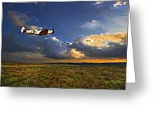 Evening Spitfire Greeting Card