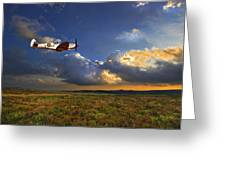 Evening Spitfire Greeting Card