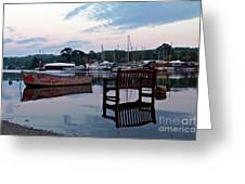 Evening Spring Tide In Mylor Bridge Greeting Card