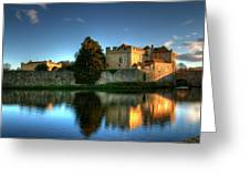 Evening Sun At Leeds Castle Greeting Card