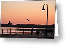 Evening Take Off Greeting Card