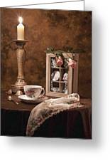 Evening Tea Still Life Greeting Card