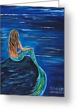 Evening Tide Mermaid Greeting Card