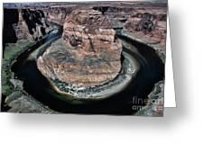 Evening Tones Horseshoe Bend Arizona Landscape  Greeting Card
