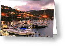 Evening Twilight At Oyster Pond, St. Martin Greeting Card